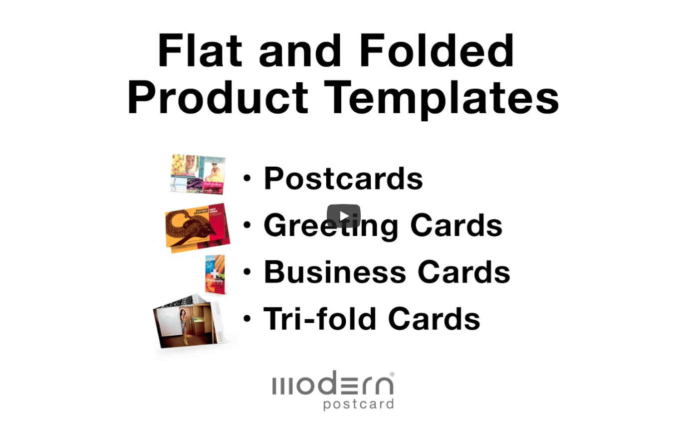 Folded Postcard Products Printing Mailing Direct Mail Modern