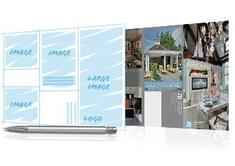 Send Modern Postcard a Mock-up for layout services.