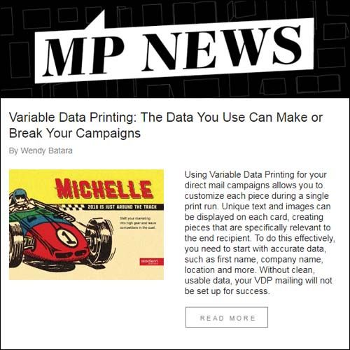 MP News - Modern Postcard's Monthly Newsletter