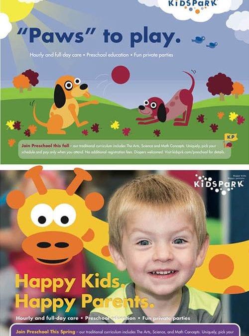 Kids Park Direct Mail Postards
