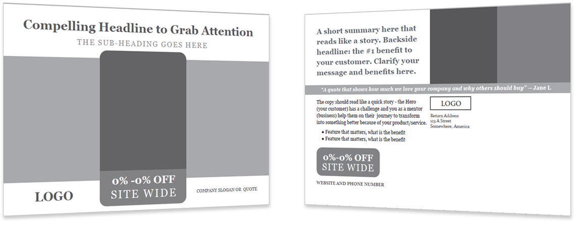 Direct to Consumer Mailing Template #1