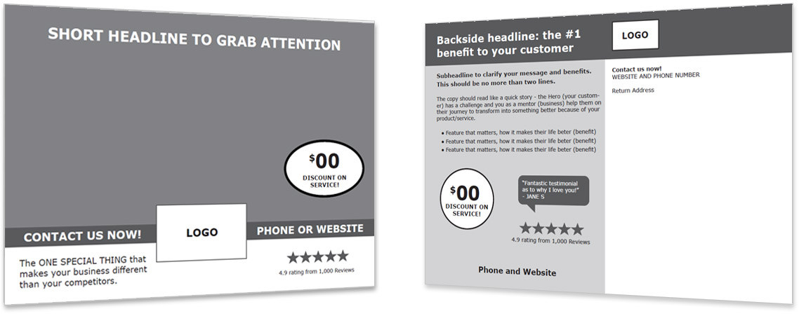 Direct to Consumer Mailing Template #2