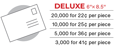 Deluxe Postcard Mailer Pricing for Church