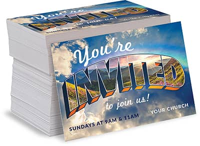 Direct Mail Postcards for Churches