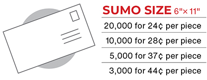 Sumo Size Postcard Mailer Pricing for Church