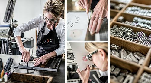 American Craftspeople - Woman Typesetting