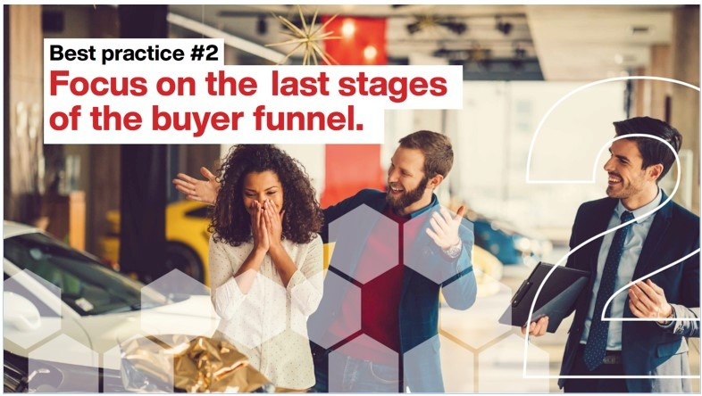 Focus on the last stages of the buyer funnel.
