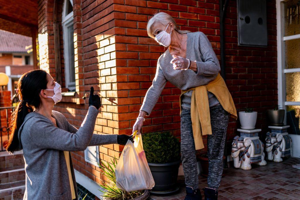 Helping Neighbor - Wearing Masks