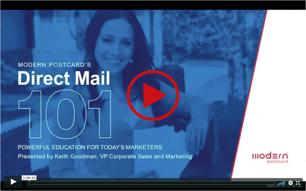Direct Mail 101 Webinar on Demand Image