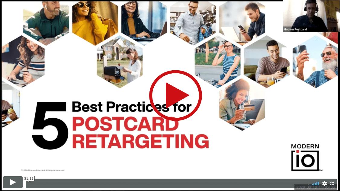 5 Best Practices for Postcard Retargeting Webinar
